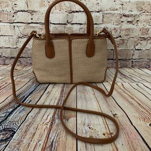 Mini handbag with shoulder strap